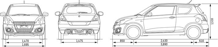 Suzuki swift dimensions